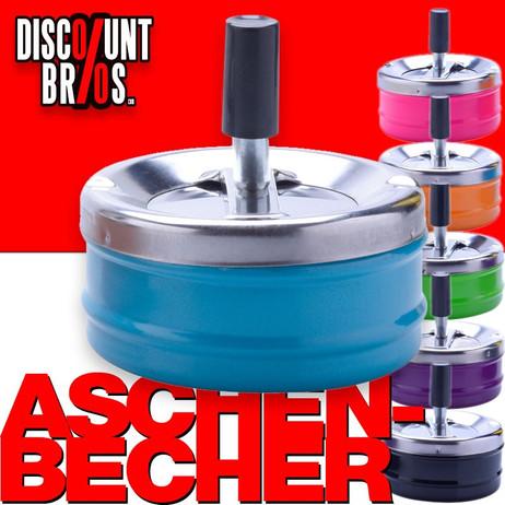 DREH-ASCHENBECHER farbiger Aschenbecher 9cm – Bild 1