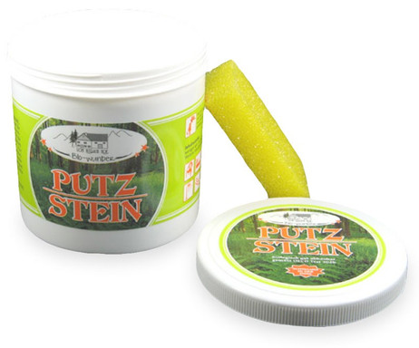 Pullach Hof Biowunder PUTZSTEIN mit Schwamm 1000g – Bild 3