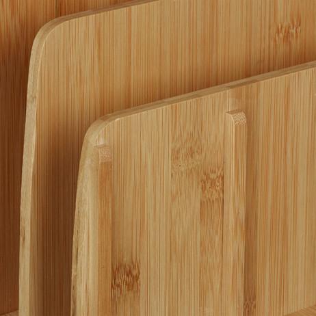 Dokumentenhalter LADESTATION + BRIEFABLAGE Büro-Organzier Bambus Holz – Bild 5