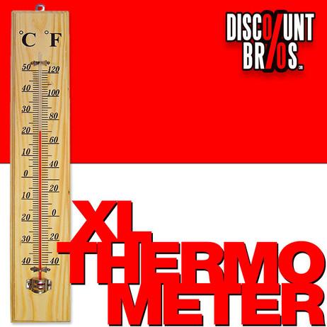 Nostalgie Jumbo XL HOLZ THERMOMETER 40cm – Bild 1