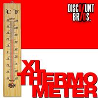 Nostalgie Jumbo XL HOLZ THERMOMETER 40cm