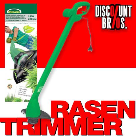 GREEN ARROW Elektro Rasentrimmer TRIMMER 250W 23cm Schnittkreis – Bild 1