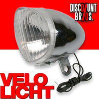 Retro-Design VELOLICHT Fahrrad Velolampe Frontscheinwerfer für Dynamobetrieb