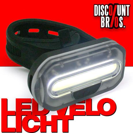 Front COB LED VELOLICHT Fahrrad Frontlicht WEISS – Bild 1