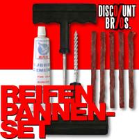 Autoreifen Reparatur REIFEN PANNEN SET Reifenreparatur Pneu Flicken KFZ Auto 8tlg.