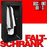 FALTSCHRANK Stoff Kleiderschrank schwarz 70×46×148cm
