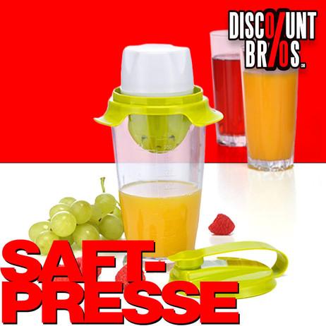 Entsafter SAFTPRESSE Zitruspresse mit Behälter und Schütteldeckel – Bild 1