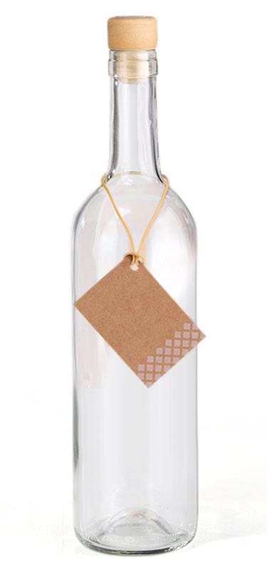 750ml GLASFLASCHE mit KORKEN Flasche Kunststoffkorken – Bild 2