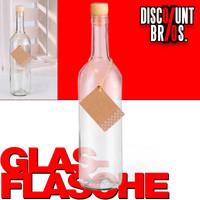 750ml GLASFLASCHE mit KORKEN Flasche Kunststoffkorken