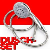 DUSCHBRAUSE-SET Duschkopf mit 5 Strahlfunktionen inkl. Brauseschlauch 150cm