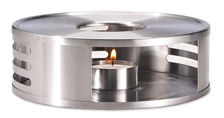 Speisewärmer RECHAUD Warmhalteplatte Teewärmer Stövchen aus Edelstahl – Bild 2
