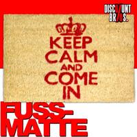FUSSMATTE Türvorleger: KEEP CALM weiss/rot 60×40cm