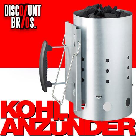 XL Grill Briketts- und KOHLEANZÜNDER aus Metall – Bild 1