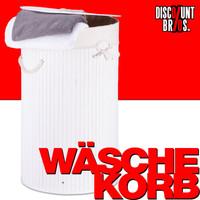 Wäschebox WÄSCHEKORB Wäschesammler Bambus rund WEISS