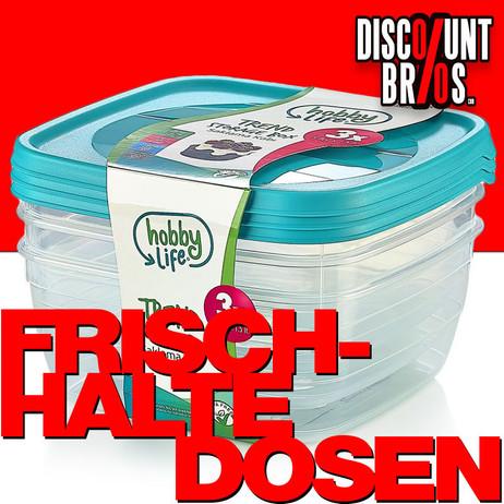3 × 0,9 Liter Frischhaltedosen VORRATSDOSEN SET Aufbewahrungsbox Frische Box – Bild 1