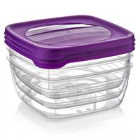 3 × 0,9 Liter Frischhaltedosen VORRATSDOSEN SET Aufbewahrungsbox Frische Box