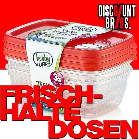 3 × 0,6 Liter Frischhaltedosen VORRATSDOSEN SET Aufbewahrungsbox Frische Box – Bild 1