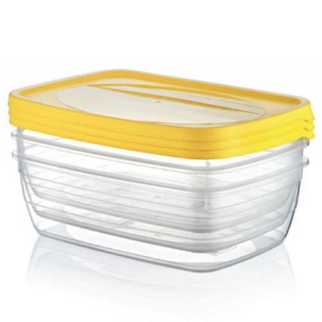 3 × 0,6 Liter Frischhaltedosen VORRATSDOSEN SET Aufbewahrungsbox Frische Box – Bild 4