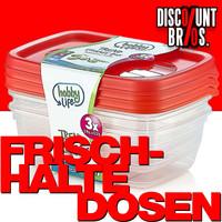 3 × 0,6 Liter Frischhaltedosen VORRATSDOSEN SET Aufbewahrungsbox Frische Box
