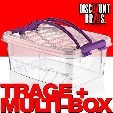 5 Liter MULTI BOX Transportbox Aufbewahrungsbox mit Tragegriffen VORRATSDOSE Frischhaltedose – Bild 1