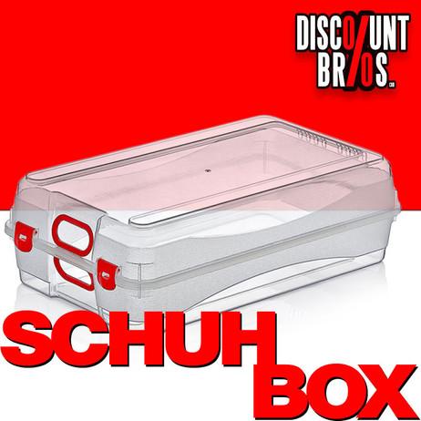MULTI BOX Aufbewahrungsbox SCHUHBOX Damen transparent mit Griffen – Bild 1