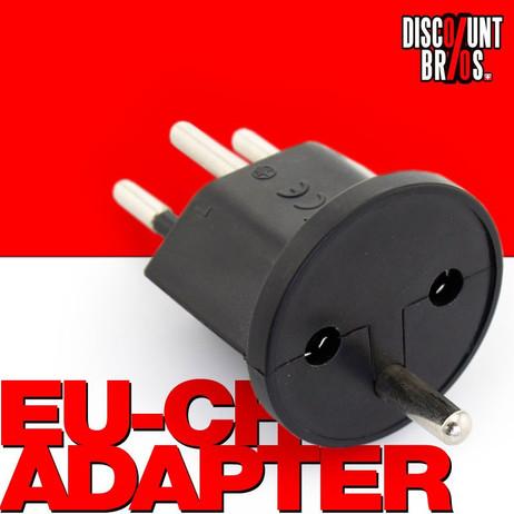 140 × Permanent Fix-Adapter Stecker SCHUKO (Typ F CEE 7) zu Schweiz (T12) Fixadapter 3-polig – Bild 1