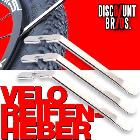 Velo Fahrrad REIFENHEBER Werkzeug 3-teilig Edelstahl KENWAY – Bild 1