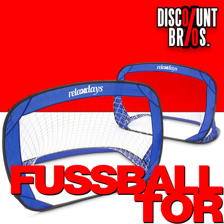 2er-Set POP UP FUSSBALLTOR Goal für Kinder 120×80×80cm – Bild 1