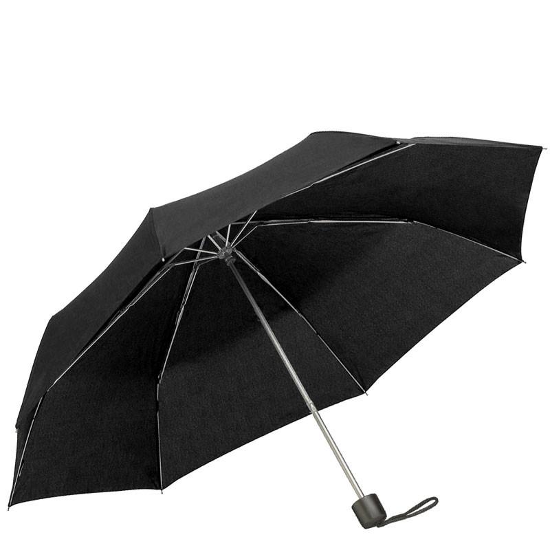 Mini Notfall REGENSCHIRM Knirps Taschen-Regenschirm SCHWARZ