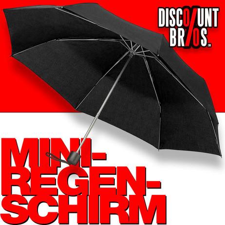 Mini Notfall REGENSCHIRM Knirps Taschen-Regenschirm SCHWARZ – Bild 1