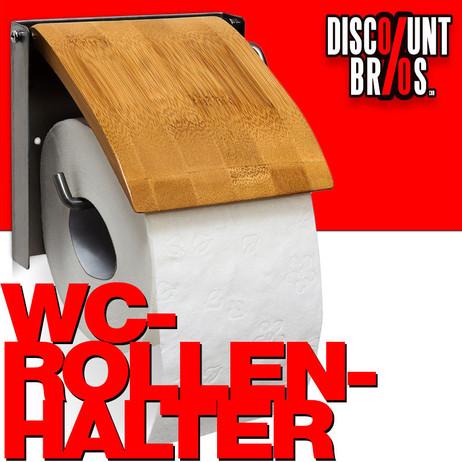 Toilettenpapierhalter WC-PAPIER-HALTER Bambus und Edelstahl – Bild 1