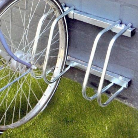 4-er VELOSTÄNDER Fahrradständer für Boden- & Wandmontage (2×2er) – Bild 4