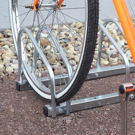 4-er VELOSTÄNDER Fahrradständer für Boden- & Wandmontage (2×2er) – Bild 3