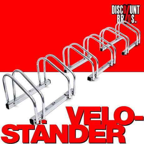 6-er VELOSTÄNDER Fahrradständer für Boden- & Wandmontage (3×2er) – Bild 1