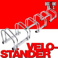 6-er VELOSTÄNDER Fahrradständer für Boden- & Wandmontage (3×2er)