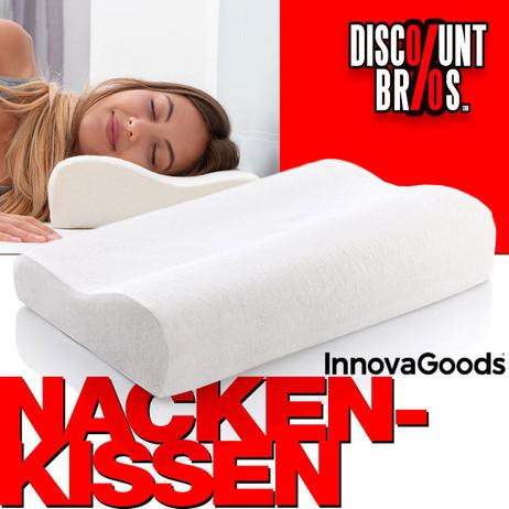 InnovaGoods Kopfkissen KISSEN Memory Schaumstoff Wellness Relax Memory Foam Nackenkissen WEISS – Bild 1