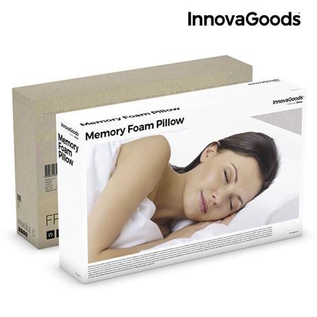 InnovaGoods Kopfkissen KISSEN Memory Schaumstoff Wellness Relax Memory Foam Nackenkissen WEISS – Bild 6