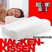 InnovaGoods Kopfkissen KISSEN Memory Schaumstoff Wellness Relax Memory Foam Nackenkissen WEISS