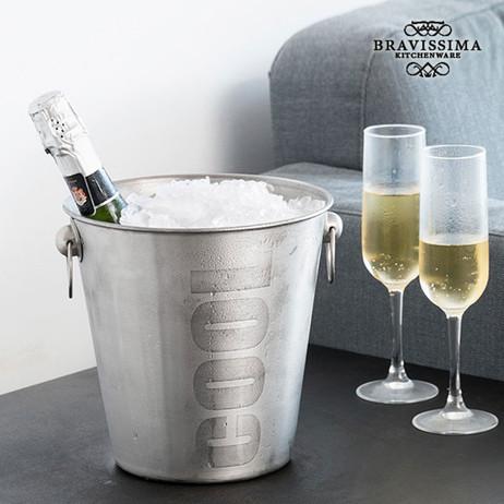Flaschenkühler SEKTKÜHLER COOL Eiskübel Edelstahl gebürstet von Bravissima Kitchen  – Bild 3