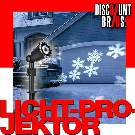 Weihnachtsbeleuchtung SMD LED Licht - Projektor DEKOLICHT Schneeflocken mit Dreheffekt – Bild 1