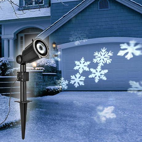 Weihnachtsbeleuchtung SMD LED Licht - Projektor DEKOLICHT Schneeflocken mit Dreheffekt – Bild 2