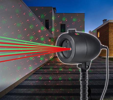 Weihnachtsbeleuchtung LASER PROJEKTOR Sternenhimmel Strahler Licht ROT + GRÜN – Bild 3