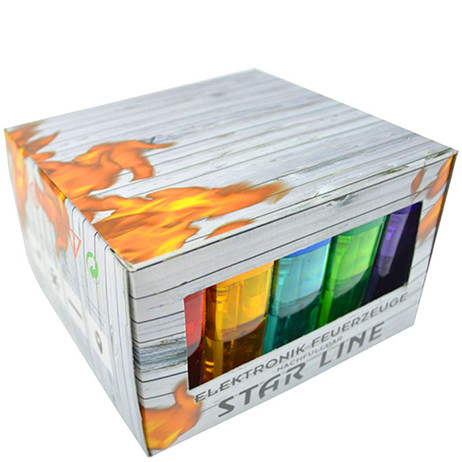 50 Elektronik FEUERZEUGE farbig transparent nachfüllbar – Bild 4