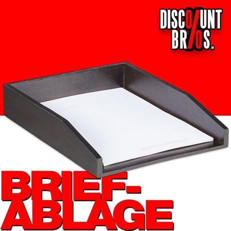 Dokumentenablage Papierablage BRIEFABLAGE Bambus BRAUN – Bild 1