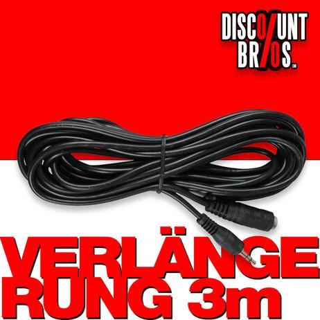 Kopfhörer MINIJACK Klinkenstecker VERLÄNGERUNGS-KABEL 3m – Bild 1