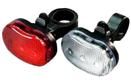 Front- + Rücklicht 3 LED VELOLICHT Fahrrad Frontleuchte und Rückleuchte – Bild 2