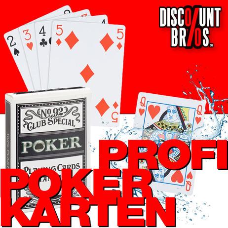 Wasserfeste PROFI Jasskarten POKERKARTEN Kartenspiel Kartendeck Spielkarten Kunststoff – Bild 1