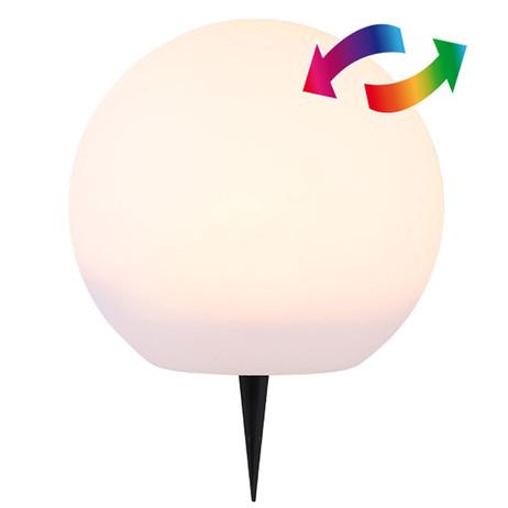 LED SOLAR LEUCHTKUGEL Kugelleuchte Kugellampe Ø25cm WARMWEISS + Farbwechsler – Bild 2