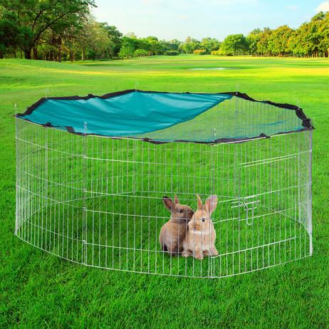 XL FREILAUFGEHEGE Käfig für Kleintiere mit Netz Ø145cm – Bild 3
