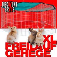XL FREILAUFGEHEGE Käfig für Kleintiere mit Netz Ø145cm 001